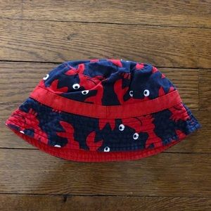 Carters blue and red crab bucket hat